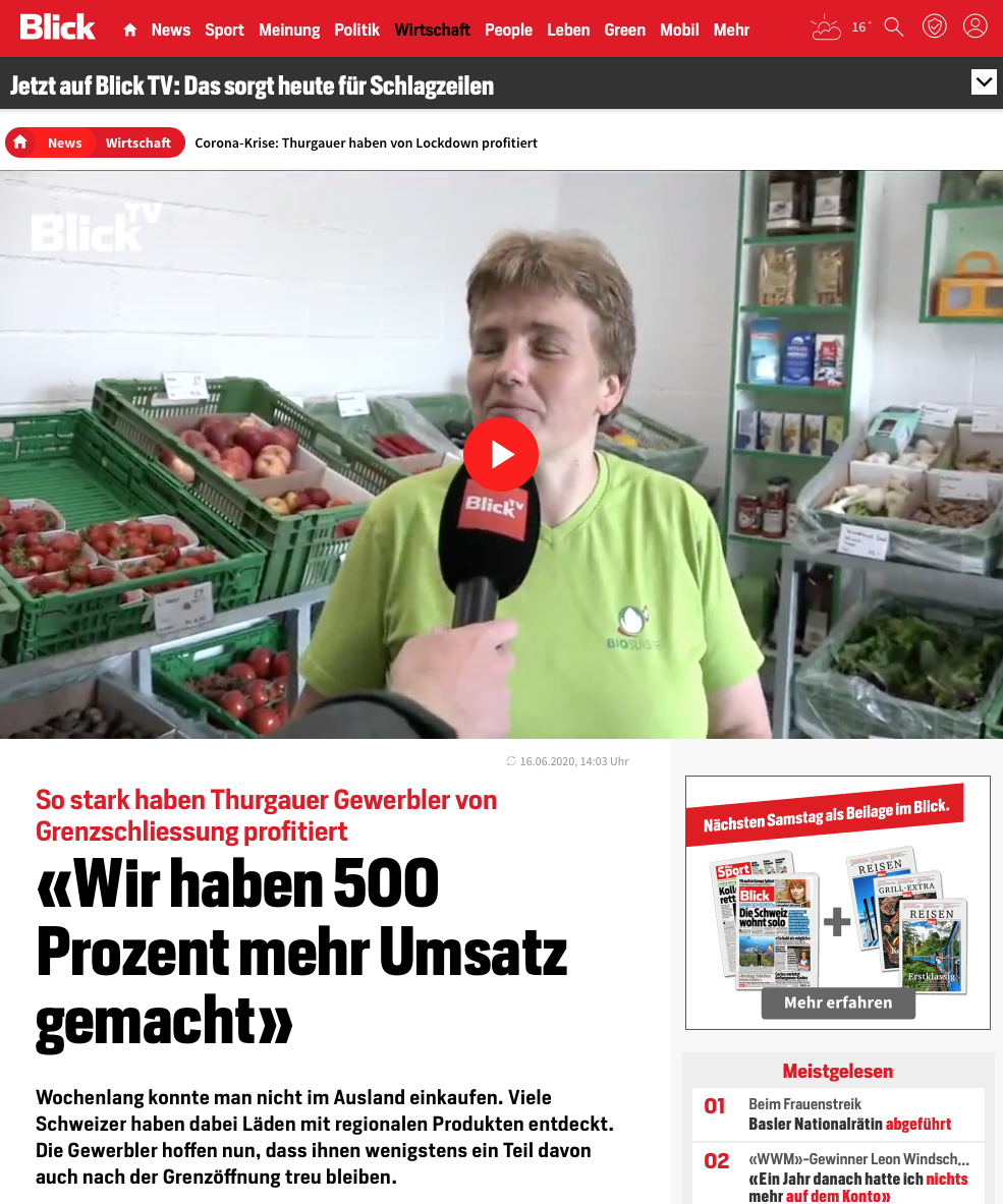 Biohofladen Blick TV